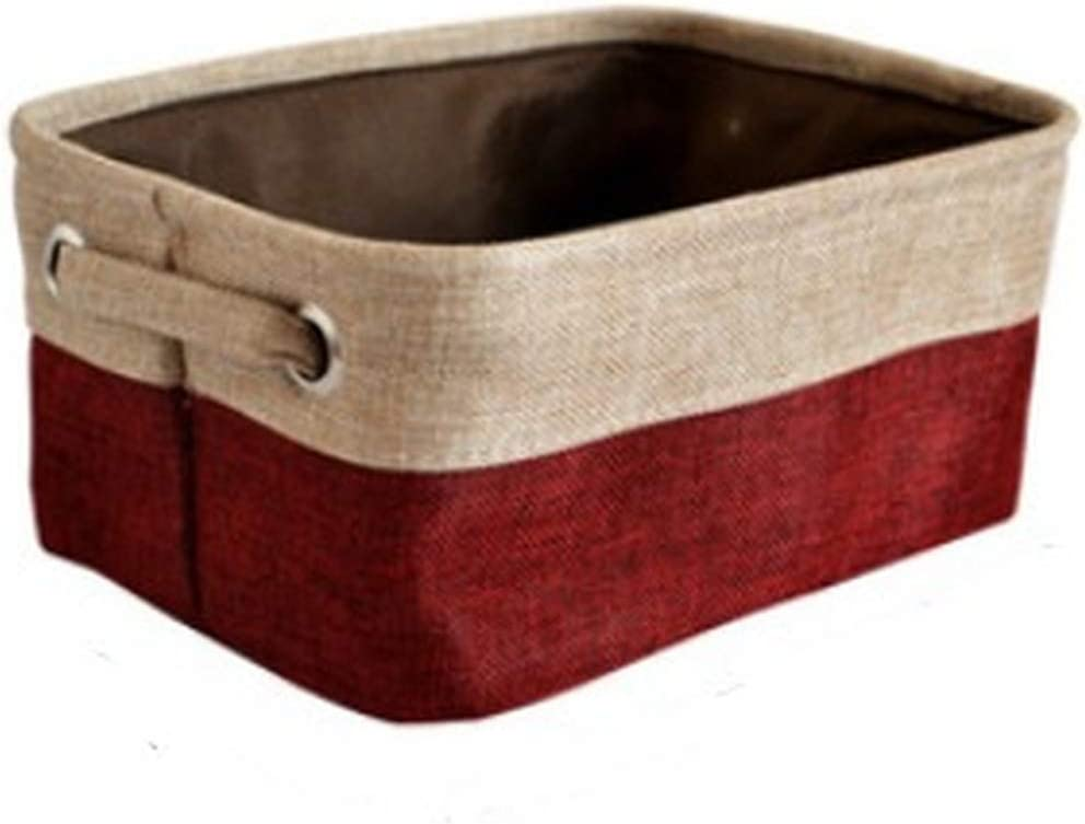 Cover-Less Cotton Cheap mail order sales trust Linen Storage Canvas Double-Layer Clot Baskets