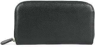 Laurige France Women's Leather Large Wallet Clutch Black G447.01
