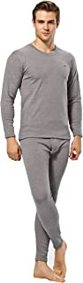 Autumn and Winter Men with Cashmere Thermal Underwear with Thickened Suit-Gray