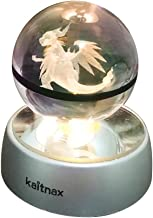 3d Crystal Ball Lamp Laser Engraving Image in the Ball LED Color Change Base (Charizard)