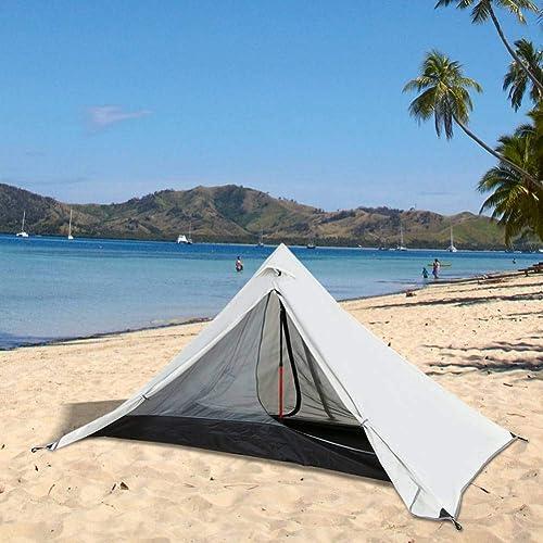 ZZPEO Tente De Camping Extérieure Imperméable Double Couche Tente Extérieure Backpacking Professionnel 3 Saison Tente pour Pêche Plage