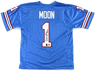 Warren Moon Signed Houston Oilers Throwback Powder Blue Custom Jersey with