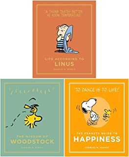 Peanuts Guide to Life Series 2, 3 Books Collection Set (Life According to Linus, The Wisdom of Woodstock, The Peanuts Guid...