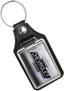 Brotherhood Chevrolet Bow Tie Logo with Steel Like Printed Background Keychain Key Holder Key Ring for Men Heavy Duty Car Keychain Key Holder Key Ring for Men Heavy Duty Car Keyring for Men and Women