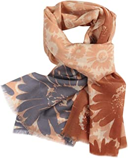 Wool Scarves for Women, WAMSOFT Ladies Floral Blossom Cashmere Pashmina 100% Wool Scarf Shawl in Various Colors
