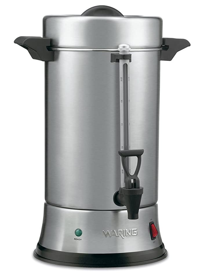 Waring Commercial WCU550 55-Cup Commercial Heavy Duty Stainless Steel Coffee Urn, Silver