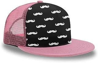 YongColer Mens Hip Hop Flat Bill Hat White Black Marble Texture Snapback Pink Cap
