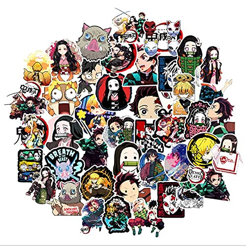 DUOYOU Blade Of Ghost Slayer Graffiti impermeable Skateboard maleta de viaje teléfono portátil equipaje pegatinas lindo niños niña juguetes 100 piezas