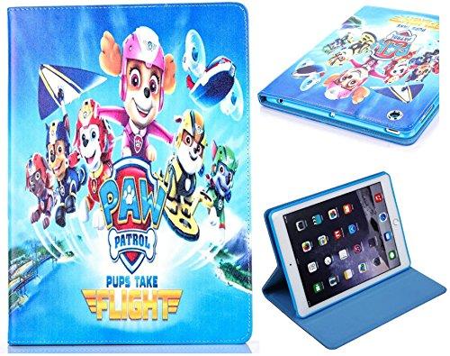 Funda para Apple iPad Mini 1 2 3 4 5 Paw Patrol Fun Kids Cartoon Stand Case Cover en azul