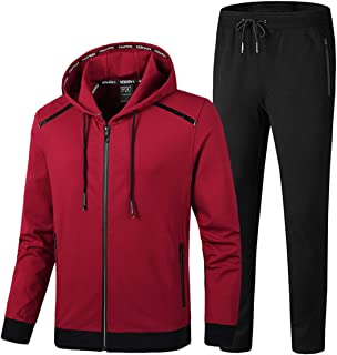 Men's Tracksuit Hooded Fitness Sport Suits Gym Hoodie 2 Piece Hoodies Joggers Sweatpants Sets Gym Jogging Tracksuits