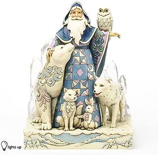 Jim Shore for Enesco Heartwood Creek Winter Santa Masterpiece Figurine, 9.75-Inch