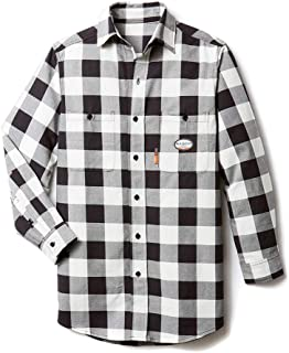 Mens Rasco Black/Red Buffalo Print Flame Resistant Shirt