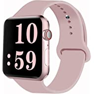 Sport Band Compatible for Apple Watch Band 38mm 40mm 42mm 44mm, Soft Silicone Sport Strap...
