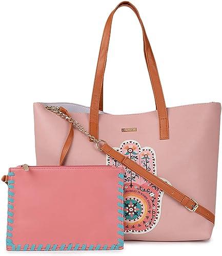 Bohemian Hamsa Tote Pink Tote Bag Fashion Hand Bag for Women PU Shoulder Purse Cotton Shoulder Bag Top Handle Satchel Handbag Casual Bag Size 12 2 x18 1