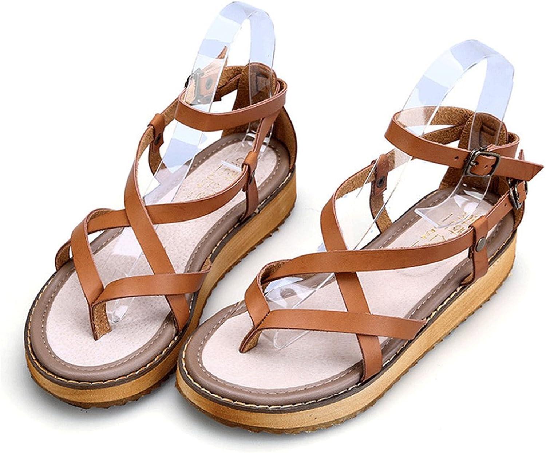 Gusha Summer New Women's Sandals Leak Toe Fashion Platform shoes Casual