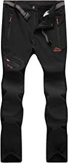 Pantalones Trekking Hombre Impermeable Pantalones de Escalada Senderismo Alpinismo Invierno Polar Forrado Aire Libre