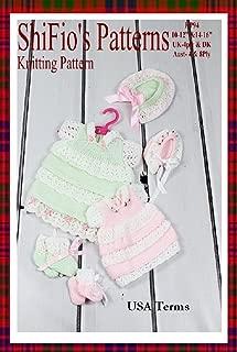 Knitting Pattern - KP94 - Lacey Layers Dolls Dress - 10