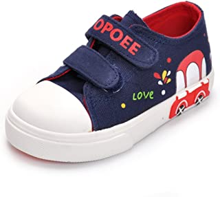 Cute Animal Toddler Sneakers Boys Girls Casual Canvas Shoes Outdoor School Sneakers