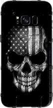 EGO Tactical Limited Edition Design UV-Printed onto a MAG934 Field Case Compatible with Samsung Galaxy S8 (Not for Plus or Active) Black & White Subdued USA Flag Skull