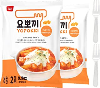 Cheese Tteokbokki Korean Rice Cake Instant (Pack of 2, Cheese Sauce) Korean Snack Tteok Tteokbokki Rice Cake 떡볶이