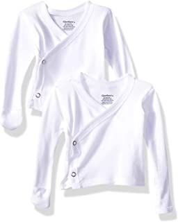 Baby 6-Pack Long-Sleeve Side-snap Mitten-Cuff Shirt