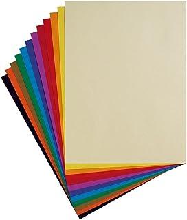 Clairefontaine 96770C - Pochette Dessin Scolaire - 12 Feuilles Papier Dessin à Grain Couleurs Vives Assorties - 24x32 cm 1...