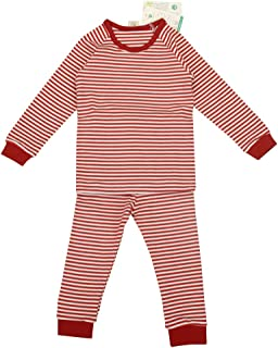 Babiesnature Boys and Girls Striped 2-Piece Organic Cotton Pajamas Sizes 2T, 3T and 4T