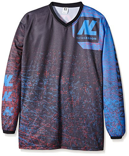 New Legion Paintball Jersey Ultimate Pro, Mehrfarbig (Dash Red/Blue), Gr. XL/XXL