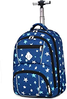 Rolling Laptop Backpack Luggage Wheeled Backpack Trolley School Bags Wheels For Boys Girls Kids Teenagers Students Schooling Travel (Color : E, Size : 31x15x46cm)