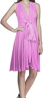 Women's Transformer Evening Dress Convertible Multi Way Wrap Cocktail Wedding Short Gown