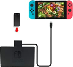 Fashioneey Extender Cable for Nintendo Switch Dock, USB-C Charging Cable Compatible Switch Console Connector Extender Cord Charging and Data Sync Compatible Switch Dock (3.3 Feet)