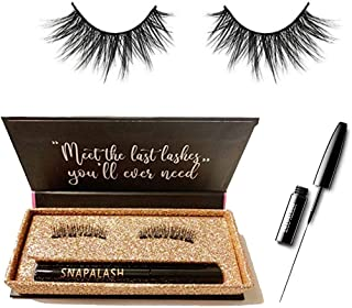 Magnetic Eyeliner and Eyelashes Kit Set   Naturally Looking Curved Eyelash   Waterproof & Long Lasting Eyelashes Extension   Reusable and No Glue   Black