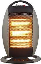LQ&XL Calefactores y radiadores halógenos eléctrico Estufa halógena Calor Halógeno 1200W (3 Control de Temperatura, Funcion Ventilador, Proteccion sobrecalentamiento, Anti-vuelco