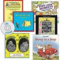 Becker's School Supplies Read Along Books with CD's Set 2 (Set of 6 Books & CDS) [並行輸入品]