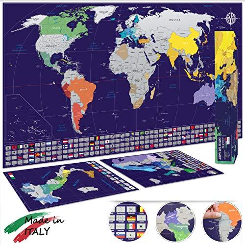 Cartina Geografica Per Segnare Luoghi Visitati.34 Migliore Planisfero Da Colorare Nel 2020 Secondo Gli Esperti