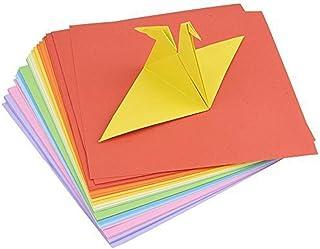 TOYMYTOY 100 hojas de Origami Paper 10 colores surtidos doble cara utilizaron 15 15 cm