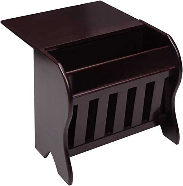 Winsome Wood Magazine Rack With Drop Leaf Table Dark Espresso Finish