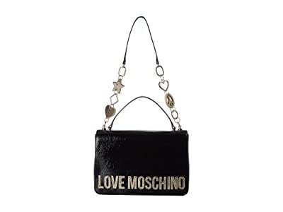 LOVE Moschino Logo Top-Handle (Nero) Handbags