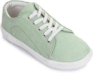 Bruno Manetti Kids Unisex Green Synthetic Leather Sneakers