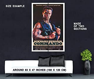 65393 Commando Movie Arnold Schwarzenegger Decor Wall 63x47 Huge Giant Poster Print