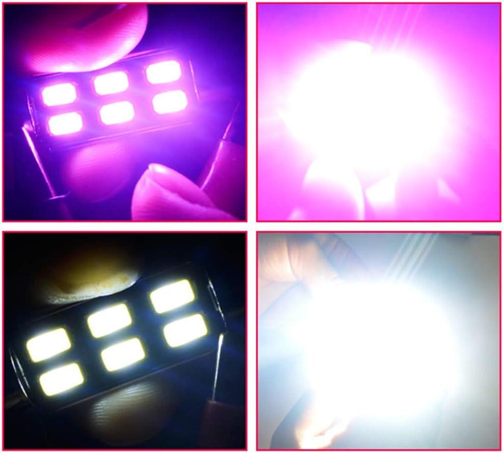 Luce Mappa SOCAL-LED 2X 3022 31mm Lampadine LED a Festone Canbus 6W Luce a Cupola Interna SMD 5730 ad Alta Potenza Luminosa Rosso