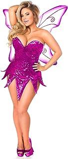 32d34e67fb Daisy Corsets Women s Top Drawer Plus Size Pink Sequin Fairy Corset Dress  Costume