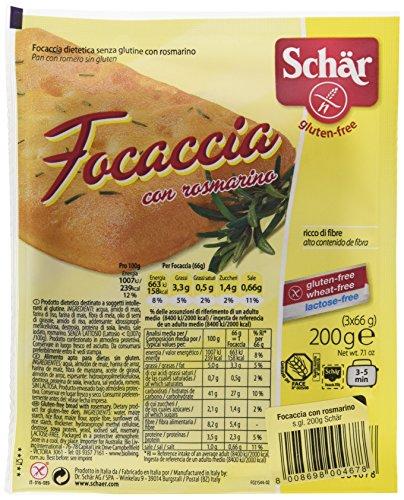 Dr. Schar Focaccia Pan - Paquete de 3 x 66.67 gr - Total: 200 gr