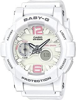 Casio Women's Baby G BGA180BE-7B White Resin Japanese Quartz Diving Watch