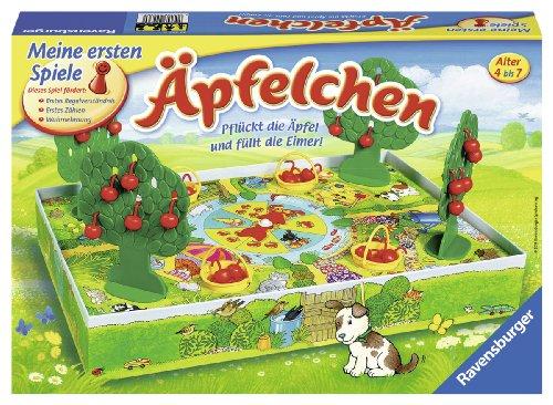 Ravensburger 22236 - Äpfelchen - Sammelspiel für Kinder, Äpfel plücken für 2-4 Spieler ab 4-7 Jahren