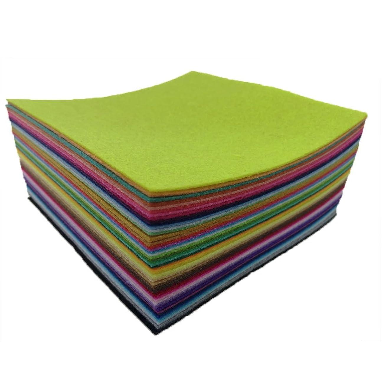 flic-flac 54pcs Felt Fabric Sheet Assorted Color Felt Pack DIY Craft Squares Nonwoven (15cm15cm)