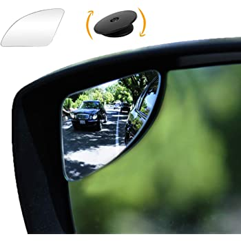 """SuperFan"" Blindspot Mirror by Safe View Company - Safer Lane Changes, Frameless HD Glass Convex, Seamlessly Contours to Your Car Side Mirror, Easy Installation (80x45mm) (2Pack)"