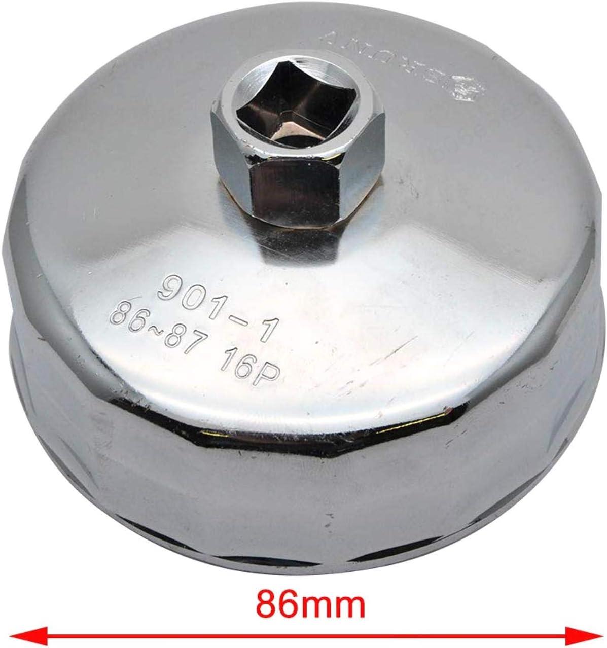 Agger Lega di Alluminio di rimozione del Filtro dellolio in Alluminio in Lega di cap Chiave a Tubo Strumento Housing