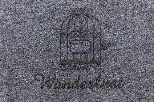 Toalla de viaje Avión techo Wanderlust 120x 84cm Algodón Comercio Justo Ringel SuSE, gris, 120 x 84 cm
