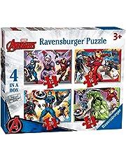 """Ravensburger Marvel Avengers 4"""" doos (12, 16, 20, 24 stuks) legpuzzels voor kinderen vanaf 3 jaar"""